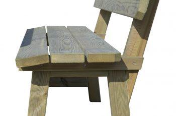 Sitzbank Kainachtal - L:195 cm, Sitzhöhe 48 cm. Aus ausgesuchtem Kiefernholz, kesseldruckimprägniert, fertig montiert (mit ergonomischer Sitzfläche)
