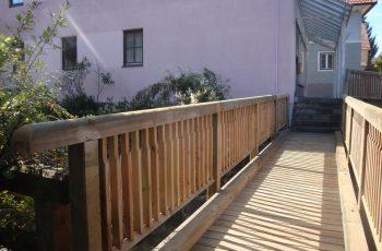 Holzbrücke mit Geländer System RAABA light (2)