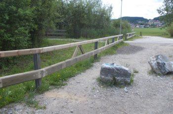 Holzleitschiene mit Holzgeländer Sonderanfertigung für Gemeinde Rosental (11)