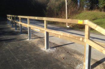 Holzleitschiene - System LBD II b - mit Holzgeländer Sonderanfertigung für Gemeinde Rosental (9)