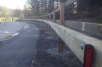 Holzleitschiene - System LBD II b - mit Holzgeländer Sonderanfertigung für Gemeinde Rosental (1)