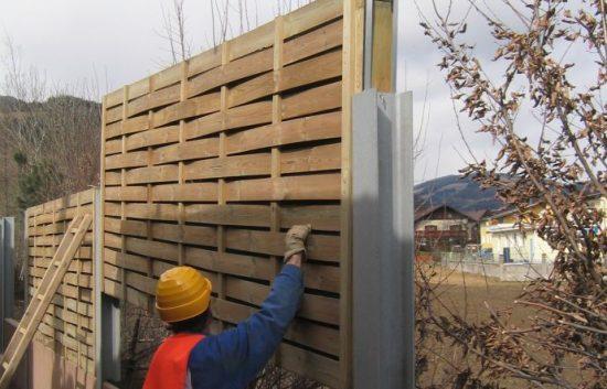 Fotoserie Bau einer Lärmschutzwand im Straßenbau - LSW - Schritt 18: