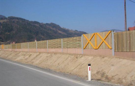 Fotoserie Bau einer Lärmschutzwand im Straßenbau - LSW - Schritt 19: