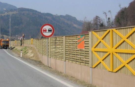 Fotoserie Bau einer Lärmschutzwand im Straßenbau - LSW - Schritt 23: