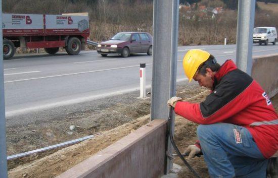 Fotoserie Bau einer Lärmschutzwand im Straßenbau - LSW - Schritt 6: