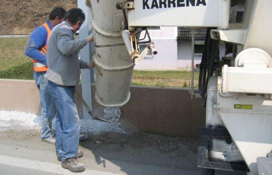 Fotoserie Bau einer Lärmschutzwand im Straßenbau - LSW - Schritt 7: