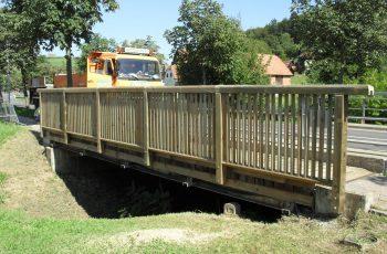 Holzbrücke mit Geländer System RAABA Light - Baustelle Bairisch Köhldorf (3)