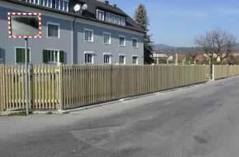 Holzzaun System Staketenzaun mit Latten (3)