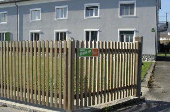Holzzaun System Staketenzaun mit Latten (1)