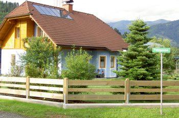 Holzzaun System waagrechter Pfostenzaun (7)