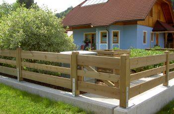 Holzzaun System waagrechter Pfostenzaun (5)