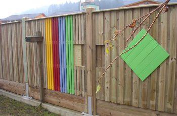Lärmschutzwand im SB Ausstellung Holz-Riegler - Bild 1