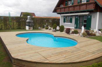 Terrassenböden und Schwimmbadumrandungen aus kesseldruckimprägniertem Kiefernholz (KDI) – Bild 1