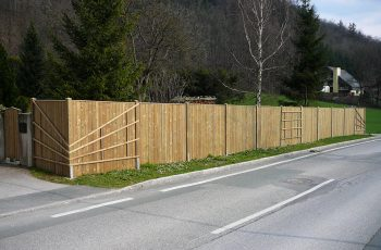 Sichtschutz Zaun System Oslo gerader Abschluss (7)