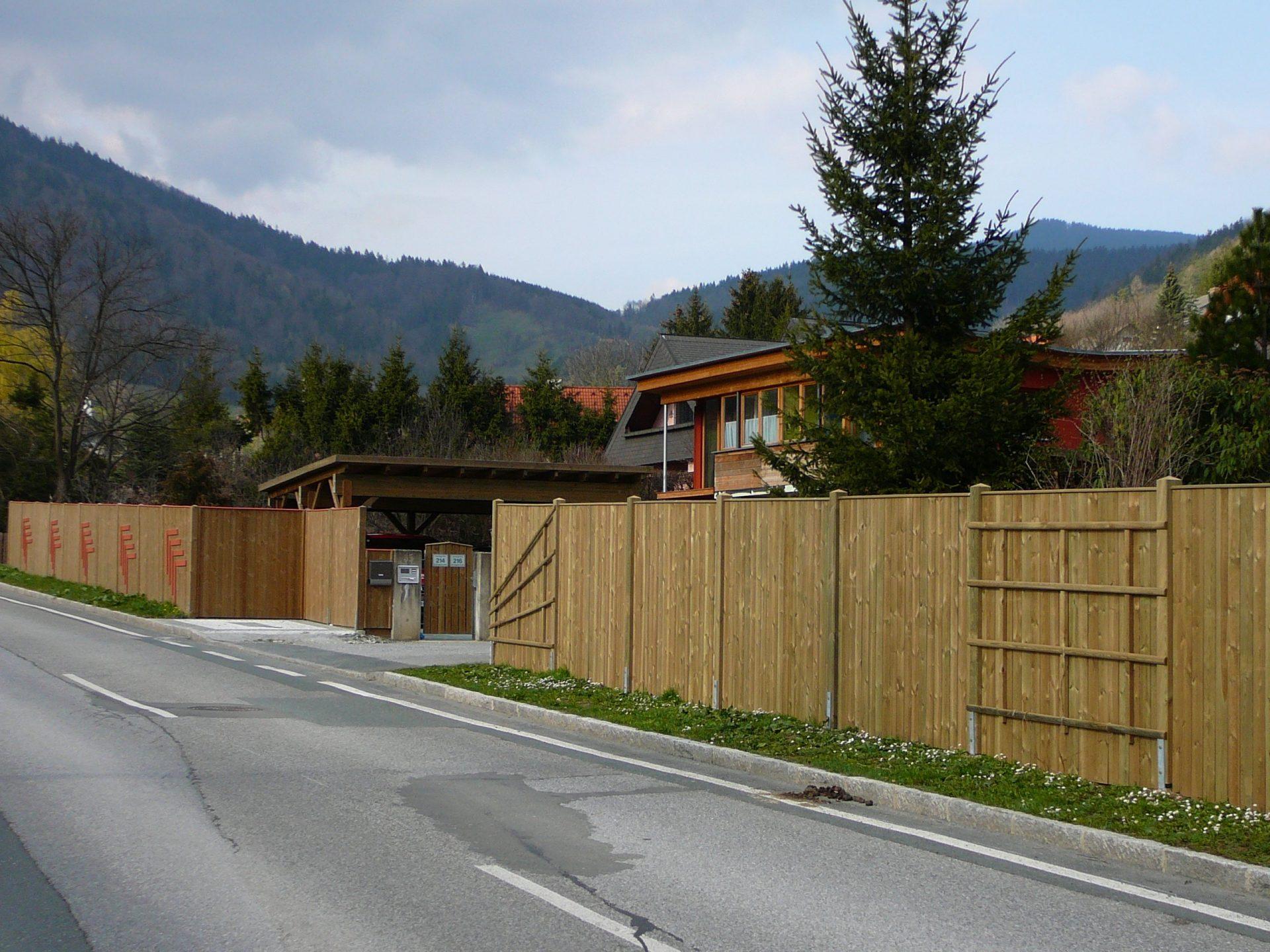 Sichtschutz Zaun System Oslo gerader Abschluss (6)