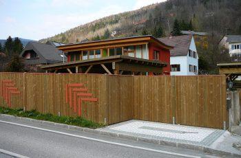 Sichtschutz Zaun System Oslo gerader Abschluss (5)
