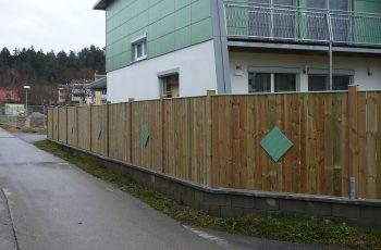 Sichtschutz Zaun System Oslo gerader Abschluss (3)