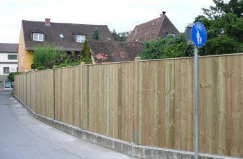 Sichtschutz Zaun System Oslo gerader Abschluss (1)