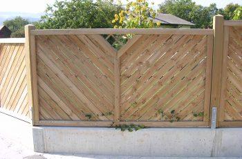 Sichtschutz Zaun System Schattennut mit Gitterausschnitt