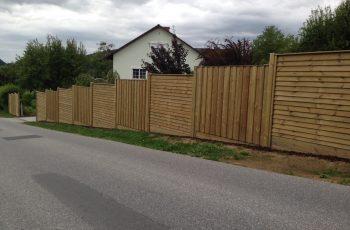 Sichtschutz Zaun System Schuppenschalung (18)