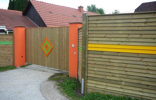 Sichtschutz Zaun System Schuppenschalung (8)