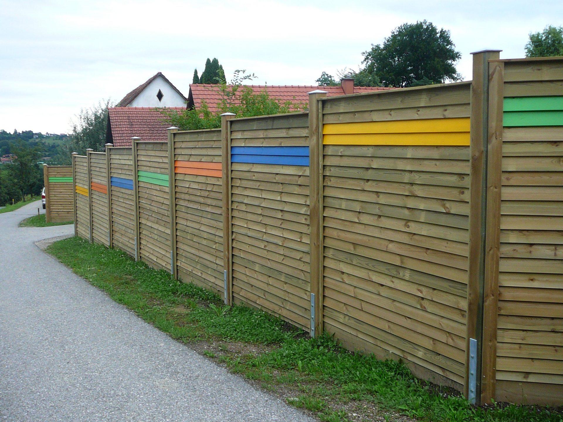 Sichtschutz Zaun System Schuppenschalung (7)