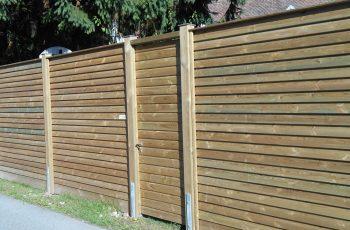 Sichtschutz Zaun System Schuppenschalung (2)