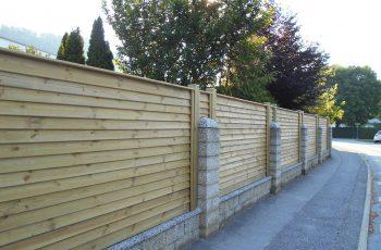 Sichtschutz Zaun System Schuppenschalung (1)