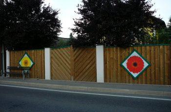 Sichtschutz Zaun System Stulpschalung färbig (2)