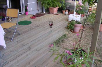 Terrassenböden und Schwimmbadumrandungen aus kesseldruckimprägniertem Kiefernholz (KDI) – Bild 2