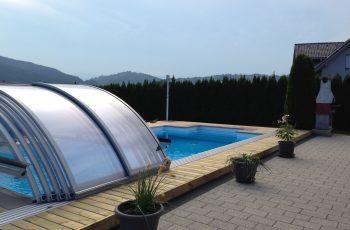 Terrassenböden und Schwimmbadumrandungen aus kesseldruckimprägniertem Kiefernholz (KDI) – Bild 10