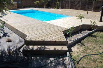 Terrassenböden und Schwimmbadumrandungen aus kesseldruckimprägniertem Kiefernholz (KDI) – Bild 11