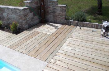 Terrassenböden und Schwimmbadumrandungen aus kesseldruckimprägniertem Kiefernholz (KDI) – Bild 13