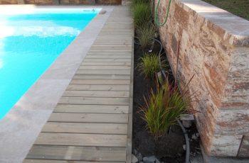 Terrassenböden und Schwimmbadumrandungen aus kesseldruckimprägniertem Kiefernholz (KDI) – Bild 14