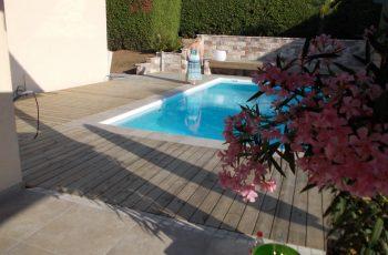 Terrassenböden und Schwimmbadumrandungen aus kesseldruckimprägniertem Kiefernholz (KDI) – Bild 15