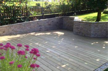 Terrassenböden und Schwimmbadumrandungen aus kesseldruckimprägniertem Kiefernholz (KDI) – Bild 16