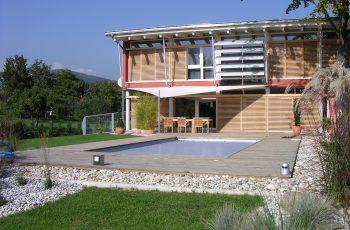Terrassenböden und Schwimmbadumrandungen aus kesseldruckimprägniertem Kiefernholz (KDI) – Bild 19