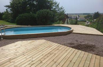 Terrassenböden und Schwimmbadumrandungen aus kesseldruckimprägniertem Kiefernholz (KDI) – Bild 27