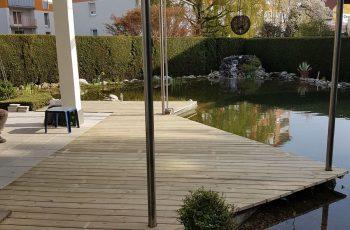 Terrassenböden und Schwimmbadumrandungen aus kesseldruckimprägniertem Kiefernholz (KDI) – Bild 32