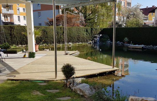 Terrassenböden und Schwimmbadumrandungen aus kesseldruckimprägniertem Kiefernholz (KDI) – Bild 33
