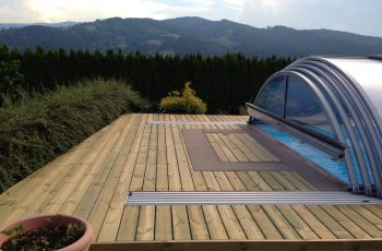 Terrassenböden und Schwimmbadumrandungen aus kesseldruckimprägniertem Kiefernholz (KDI) – Bild 9
